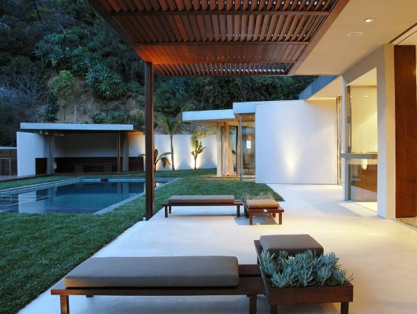 Contemporary Slat Cool Patio Roof