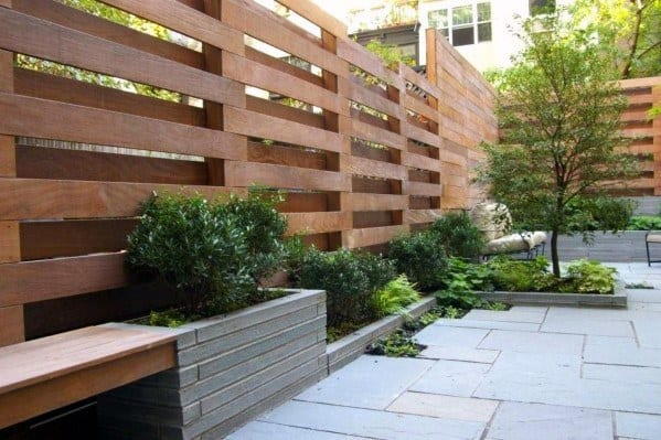Contemporary Slat Cool Wooden Fence