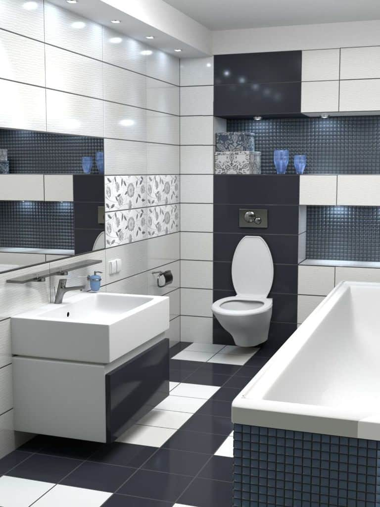 Contemporary Small Bathroom Tile Ideas 3