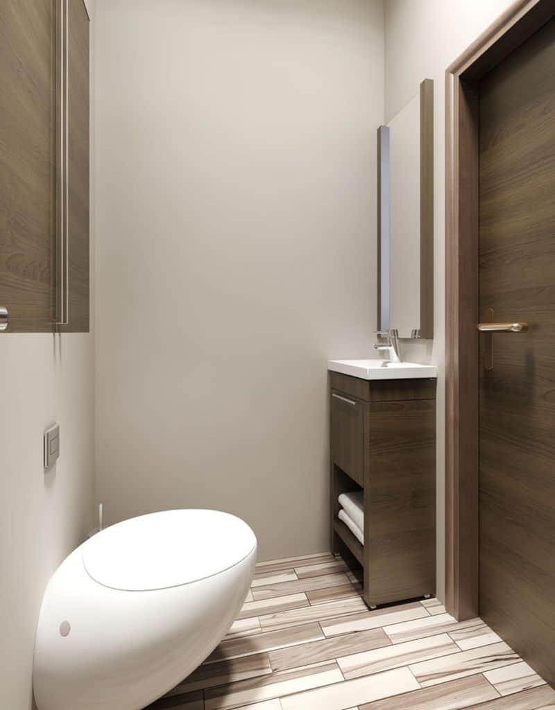 Contemporary Small Powder Room Ideas 1