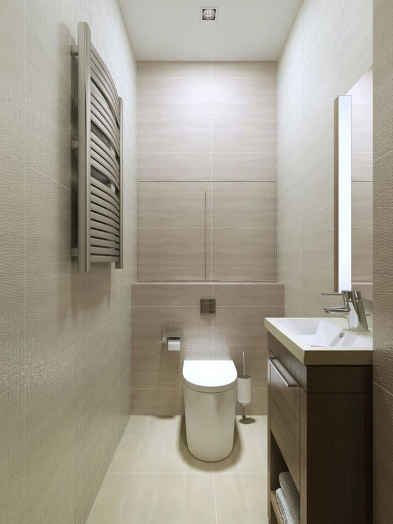 Contemporary Small Powder Room Ideas 2