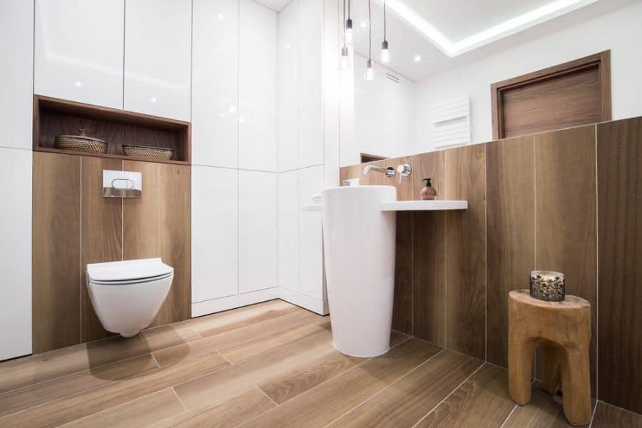 Contemporary Small Powder Room Ideas 3