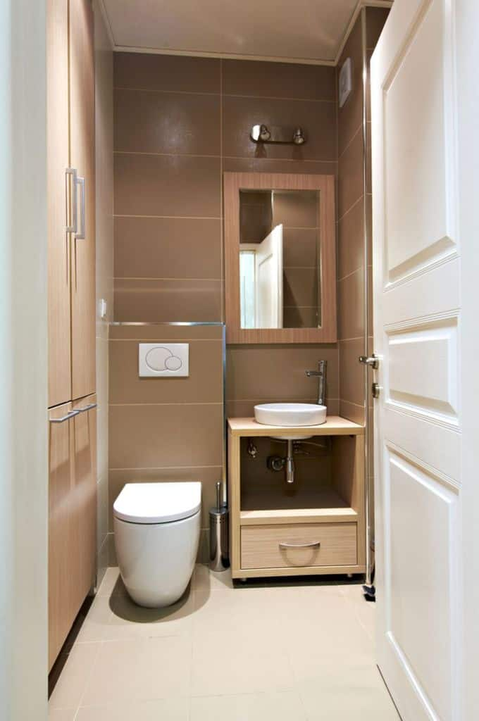Contemporary Small Powder Room Ideas 4