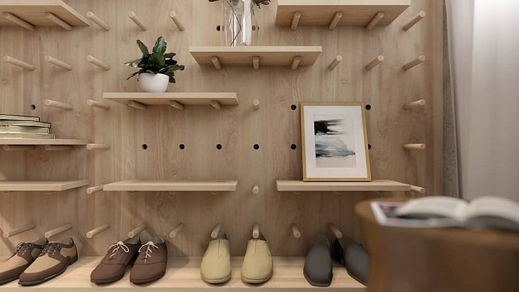 Contemporary Storage Display Pegboard Ideas Agenorgomesarq
