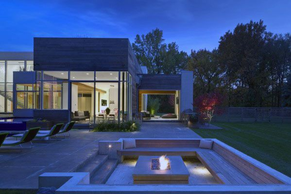 Contemporary Stunning Backyard Fire Pit Seating Designs