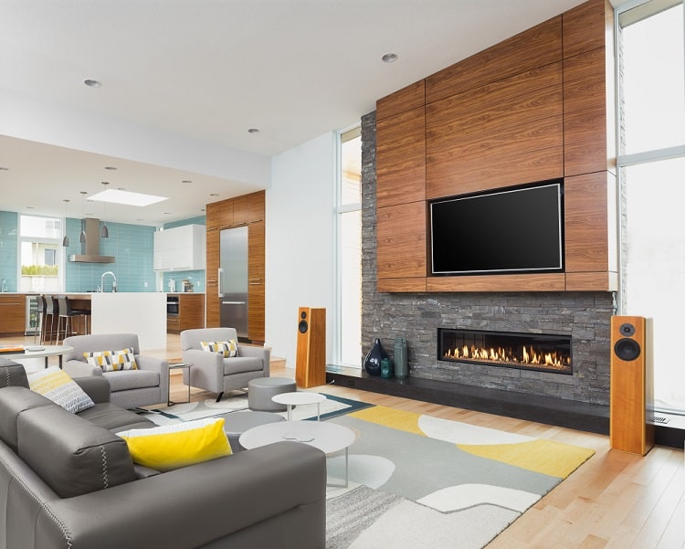 Contemporary Style Fireplace Entertainment Center