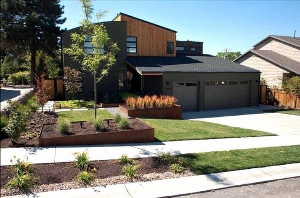Contemporary Unique Front Yard Landscaping Designs