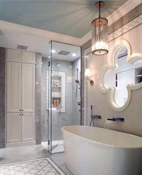 Contemporary White Bathtub Tile Ideas