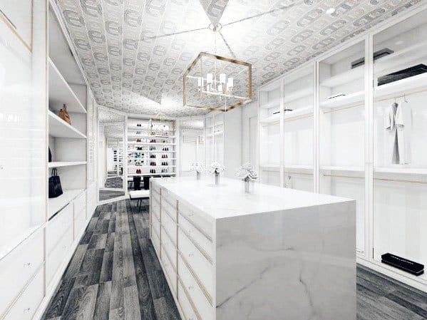 Contemporary White Closet Lighting Ideas