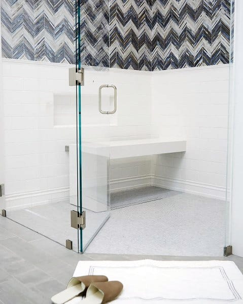 Contemporary White Design Ideas For Shower Bench