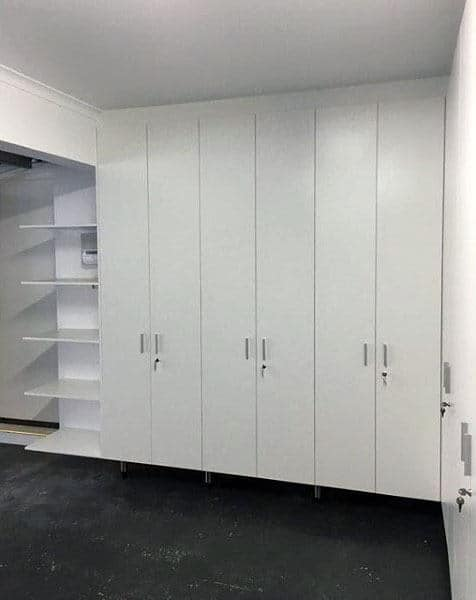Contemporary White Garage Storage Cabinets