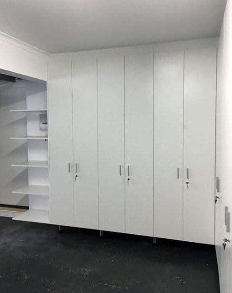 Contemporary White Garage Storage Cabinets