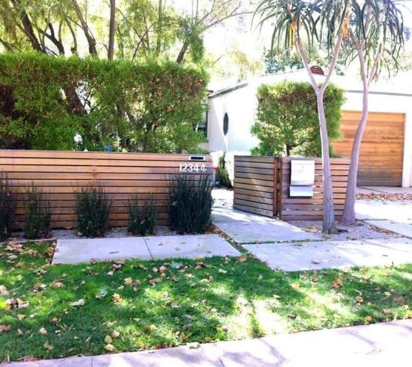 Contemporary Wood Design Ideas For Front Yard Fence