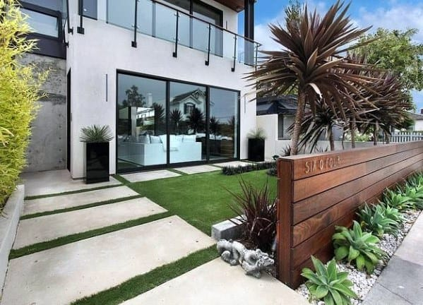 Contemporary Wood Exterior Designs Front Yard Fences