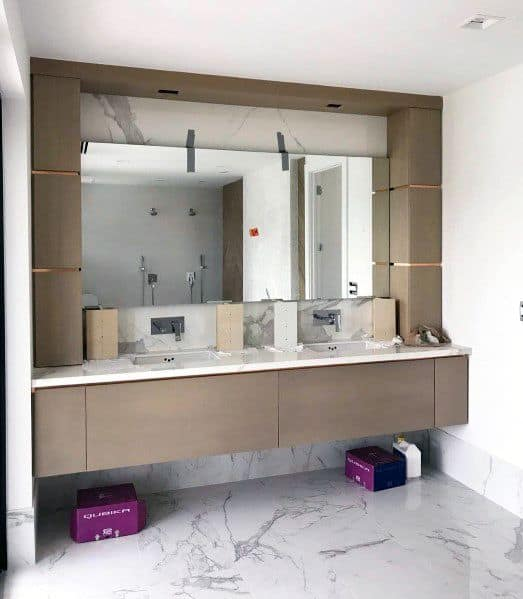 Contemporary Wood Ideas Bathroom Vanity
