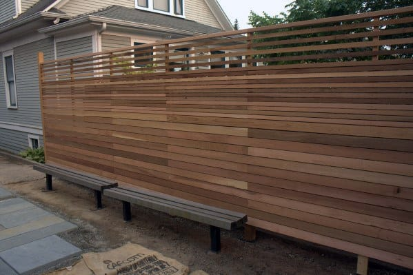 Contemporary Wood Privacy Fence Design Inspiration