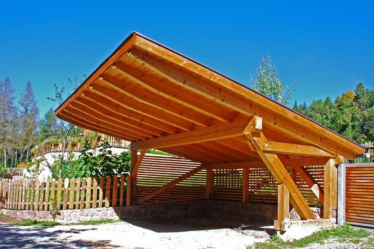 Contemporary Wooden Carport Ideas