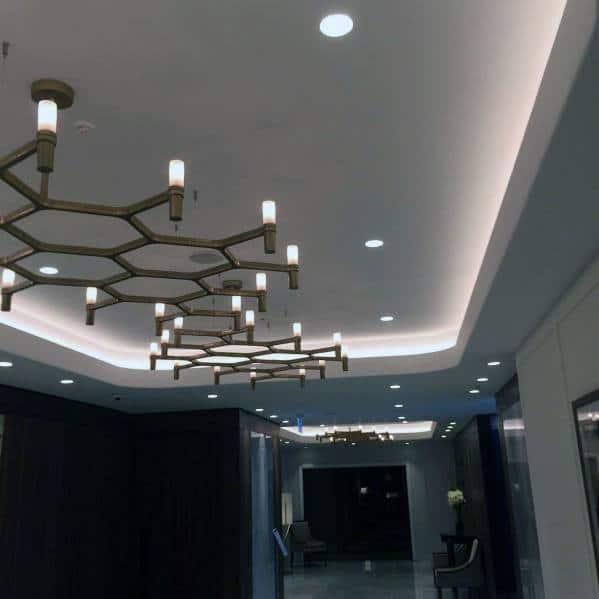 Contenporary Led Lighting Trey Ceilings Interior Ideas