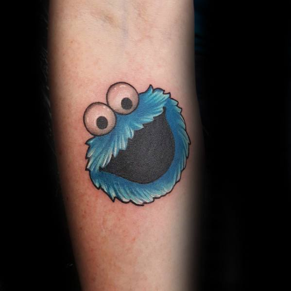 30 cookie monster tattoo designs for men muppet ink ideas