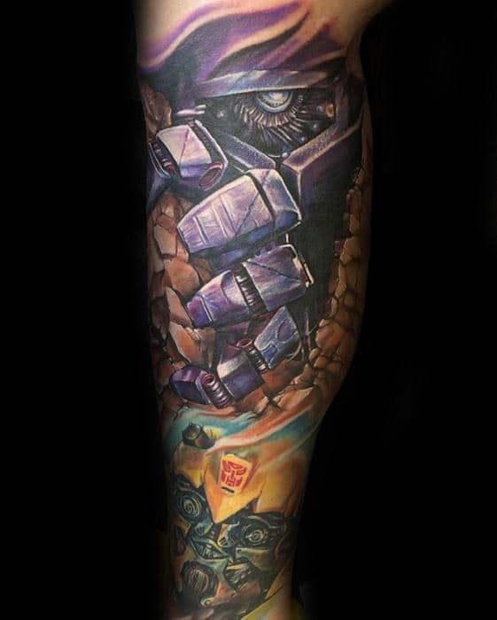 60 Transformers Tattoo Designs For Men - Robotic Ink Ideas