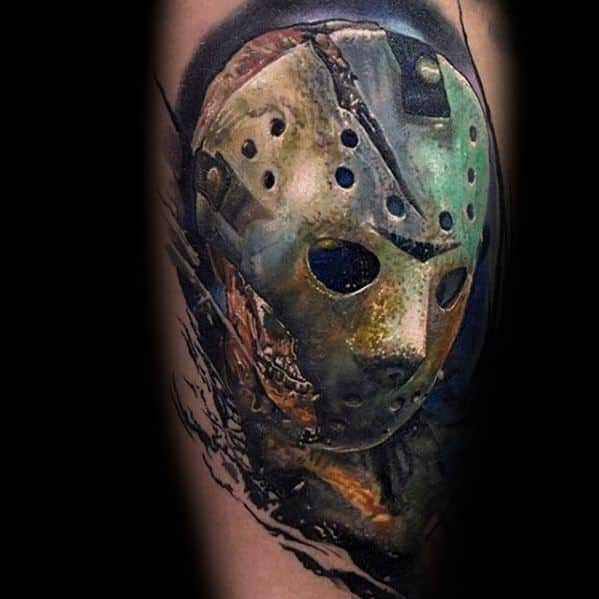 60 jason mask tattoo designs for men friday the 13th ideas. Black Bedroom Furniture Sets. Home Design Ideas