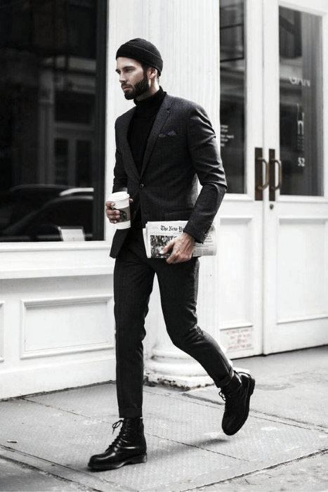 Cool All Black Outfits Mens For Fall Season