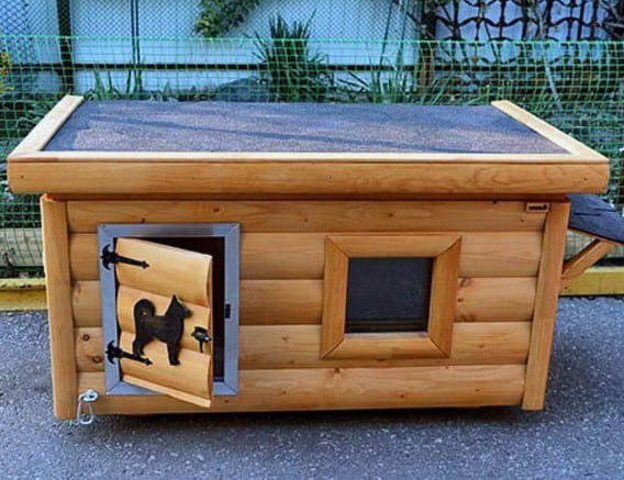 Cool All Weather Dog Houses Log Cabin Design
