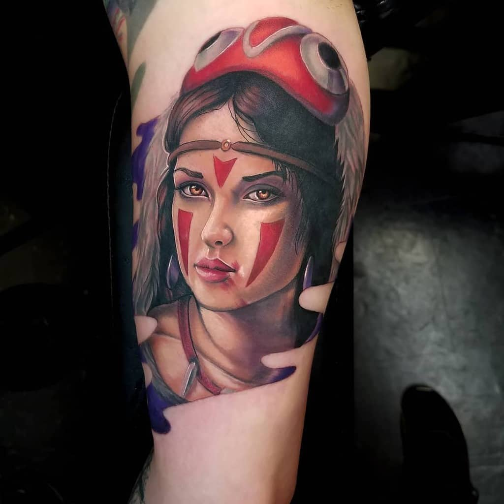 cool-anime-princess-mononoke-tattoo-asgtattooga