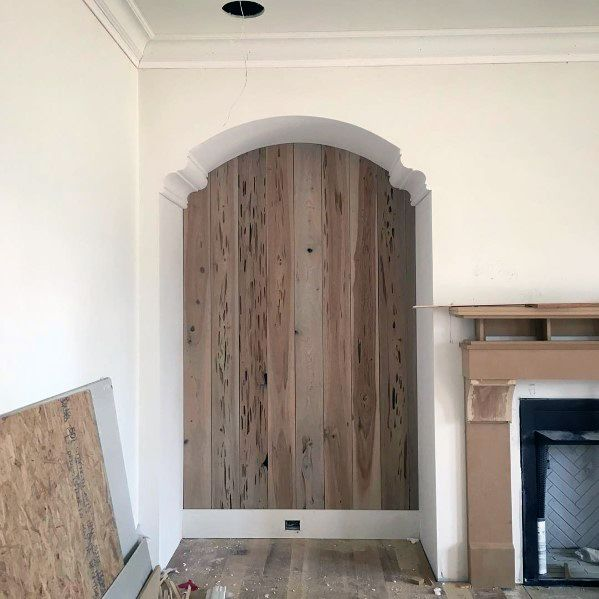 Cool Arched Recessed Wall Niche Living Room
