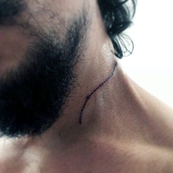 Cool Aries Constellation Mens Neck Tattoos
