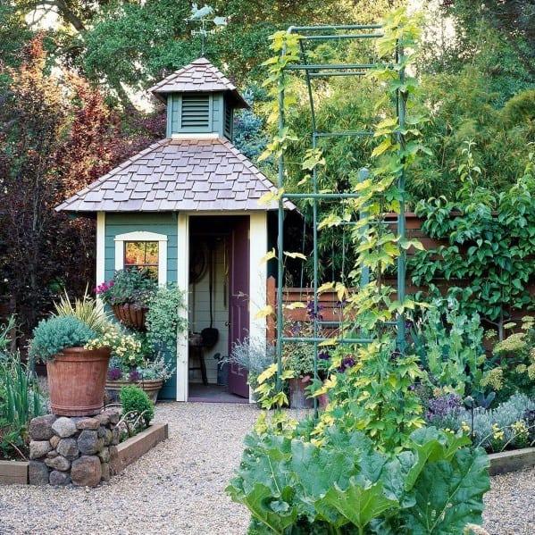 Cool Backyard Garden Tool Storage Shed