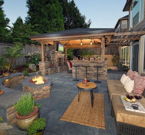 Cool Backyard Ideas Patio - Top 60 Best Cool Backyard Ideas - Outdoor Retreat Designs