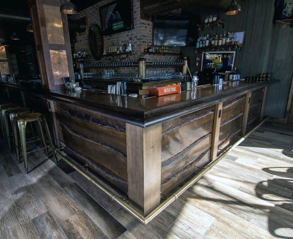 Top 40 Best Bar Foot Rail Ideas Home Saloon Designs