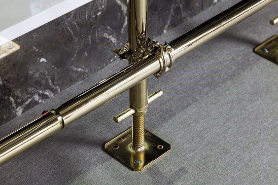 Cool Bar Foot Rail Gold Plated Metal
