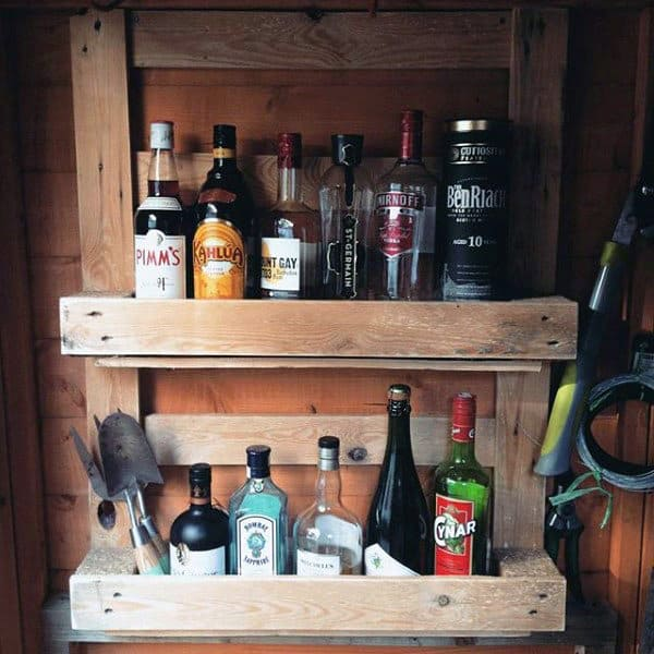 Cool Bar Shed Storage Ideas On Wall