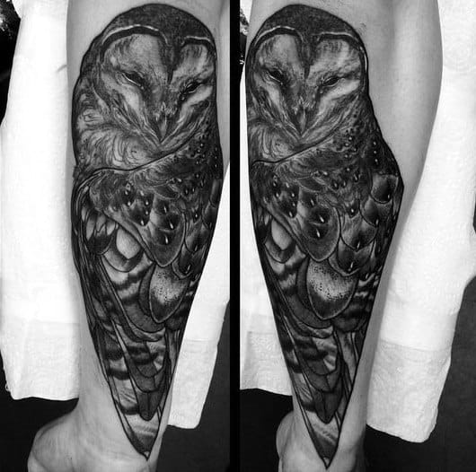 60 Barn Owl Tattoo Designs For Men - Lunar Creature Ink Ideas