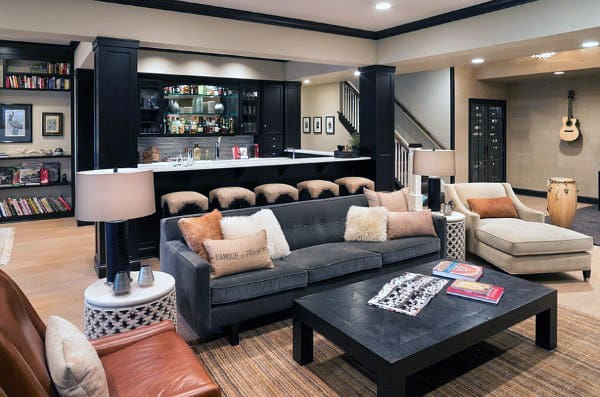 Cool Basement Bars For Man Caves