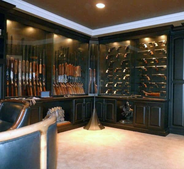 Coolest Room Designs: Top 100 Best Gun Room Designs