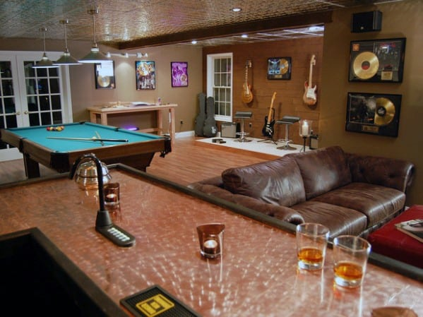 Man Cave Interior Ideas : Basement man cave design ideas for men manly home