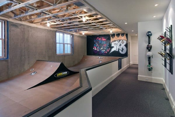 Cool Basement Skatepark Design Indoors Of Home