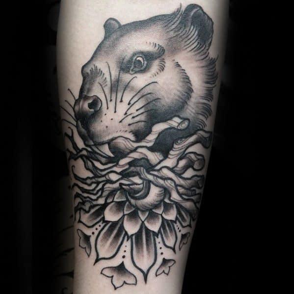 Cool Beaver Tattoo Design Ideas For Male