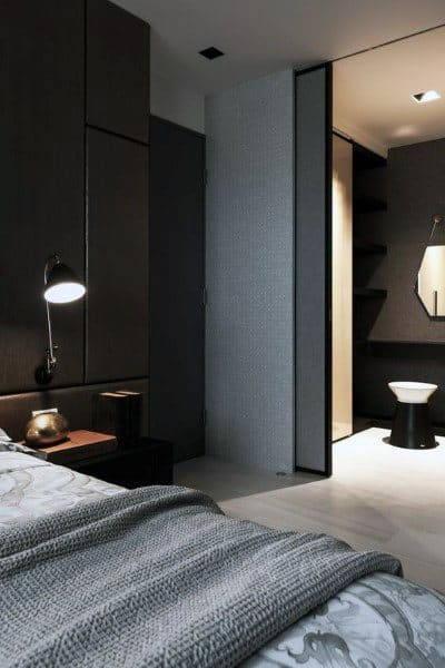 Cool Bedroom With Black Paint On Walls