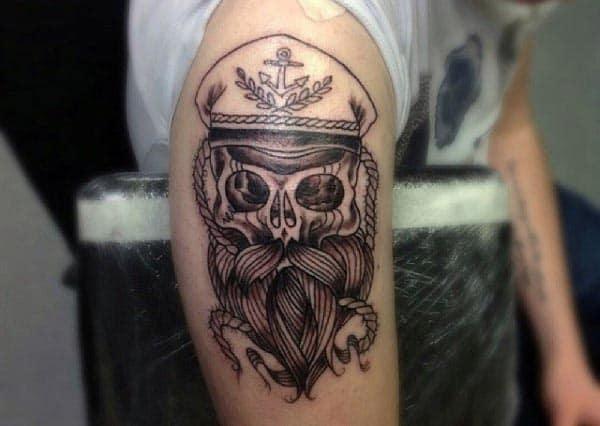 Captain Cool Bicep Tattoos For Men