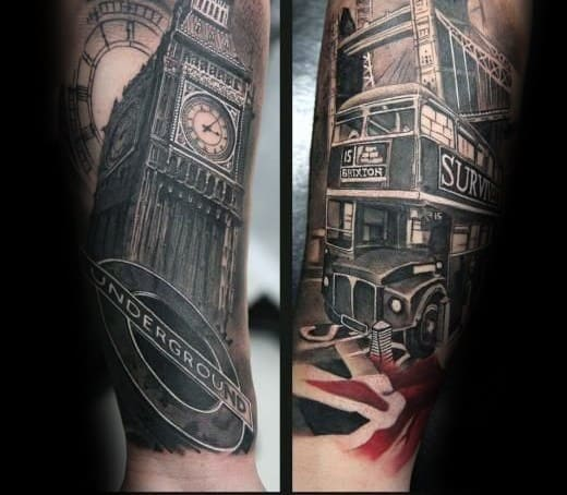 50 big ben tattoo designs for men clock ink ideas