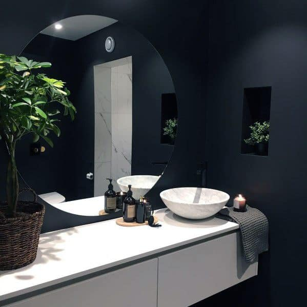 Cool Black Bathroom Design Ideas
