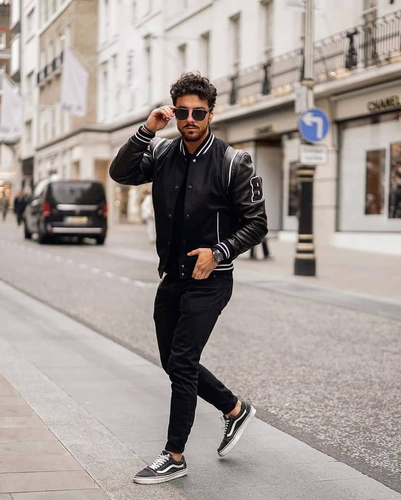 Cool Black Leather Jacket Street Style