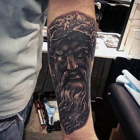 Cool Black Tattoos Greek God For Men