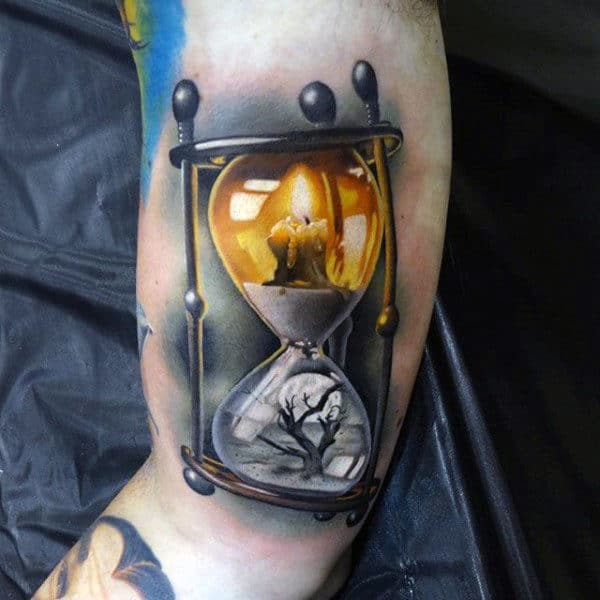 Cool Blazy Lighted Lantern Tattoo Mens Forarms