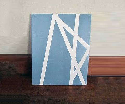 Cool Blue And White Bachelor Pad Wall Art Diy Ideas