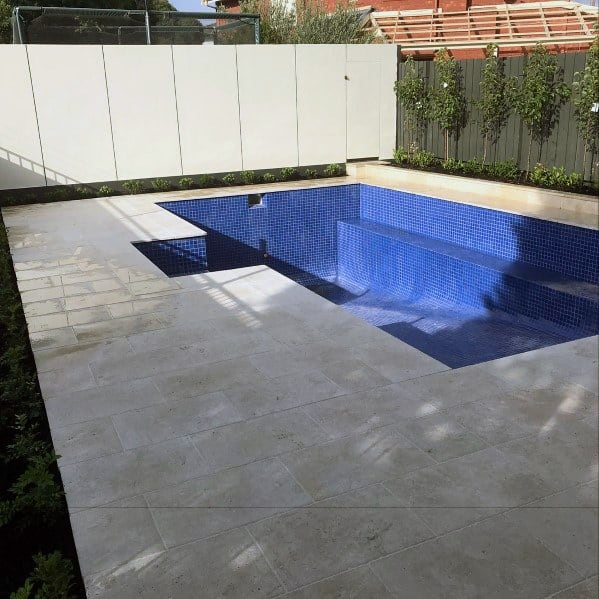 Cool Blue Mosiac Pool Tile Design Ideas